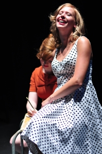 """Josie Blackmore and Fonya Irvine in """"A Beautiful Child"""" 2013 One-Act by Erin Keating (photo: Kaleigh Stultz)"""