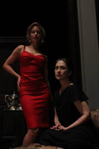"""Fonya Irvine and Elizabeth Goodyear in """"A Beautiful Child"""" 2013 One-Act by Erin Keating (photo: Alex Donovan)"""