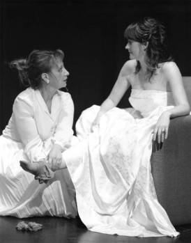"Michelle Daigle and Meghan Mesheau in ""Even Cowgirls Get Hitched"" 2004 One Act by Jennifer Roberge-Renaud (photo: Stephen Moss)"