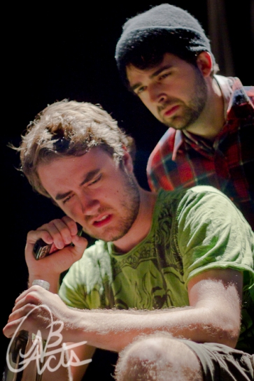 """Alex Donovan and Jacob Martin in """"The Fried Fox Variation"""" 2012 One Act by Michael Woodside (photo: Joshua Laplap)"""