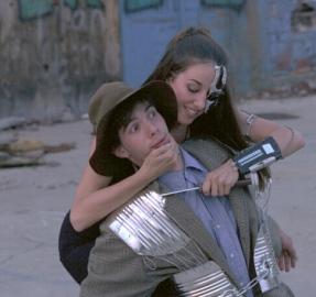 "Josef Addleman and Sarah Jeffries in ""Happy City"" 2002 Mainstage by Len Falkenstein (photo: Stephen Moss)"