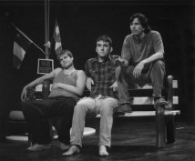 "Josh Francis, Ryan Griffith and Tim Hill in ""Inspiration Point"" 2004 Mainstage by John Garfield Barlow (photo: Stephen Moss)"