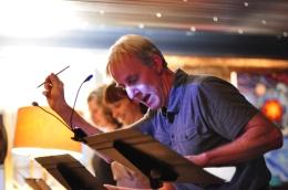 "John Ball in ""Mightier Than The Sword"" 2013 Reading by David Wojcik (photo: Kaleigh Stultz)"