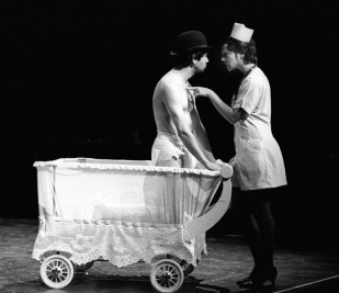 "Jeremy Gorman and Lou Poirier in ""Paratrooper"" 2004 One Act by Mark Jarman (photo: Stephen Moss)"