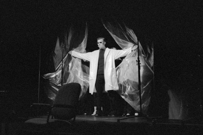 """Tony LePage in """"Plastic: The Musical"""" 2005 Mainstage/Musical by Leigh Rivenbark, Tania Breen & Tony LePage (photo: Stephen Moss)"""
