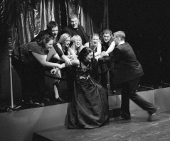 """Tania Breen and chorus in """"Plastic: The Musical"""" 2005 Mainstage/Musical by Leigh Rivenbark, Tania Breen & Tony LePage (photo: Stephen Moss)"""