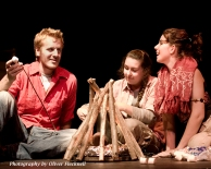 "Jordan Dashner, Lisa Quinn and Meghan Loch in ""Screefing the Rogue Wilds"" 2007 One Act by Kathleen Brown (photo: Oliver Flecknell)"