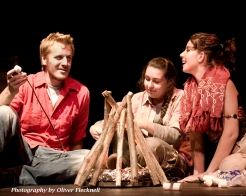 """Jordan Dashner, Lisa Quinn and Meghan Loch in """"Screefing the Rogue Wilds"""" 2007 One Act by Kathleen Brown (photo: Oliver Flecknell)"""
