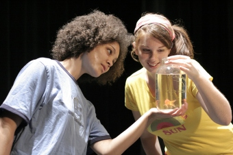"""Chelsea Seale and Meaghan George in """"The Shark Tumour Collection"""" 2006 One Act by Jill Connell (photo: Stephen Moss)"""