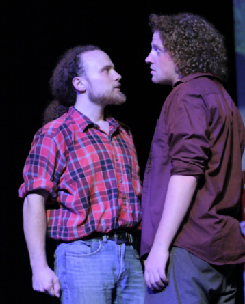"""Michael Holmes-Lauder and Step Taylor in """"Someone Else's Dream"""" 2008 One Act by Jeff Lloyd (photo: Stephen Moss)"""