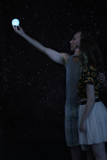 "Scott Harris and Britney McMichael in ""Spaceman"", 2015 One Act by Jake Martin (Photo: Dani Brun)"