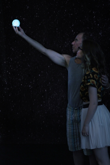 """Scott Harris and Britney McMichael in """"Spaceman"""", 2015 One Act by Jake Martin (Photo: Dani Brun)"""