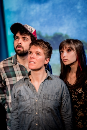 """Jake Martin, Rebekah Chassé and Sam Kamras in """"Utopia"""" 2013 Mainstage Co-Production by Len Falkenstein (photo: Michael Holmes-Lauder)"""