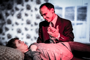 """Rebekah Chassé and Michael Holmes-Lauder in """"Utopia"""" 2013 Mainstage Co-Production by Len Falkenstein (photo: Michael Holmes-Lauder)"""