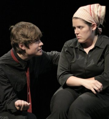 """Michael Woodside and Jennifer Roberge-Renaud in """"What You Would Do"""" 2006 One Act by Decima Mitchell (photo: Stephen Moss)"""