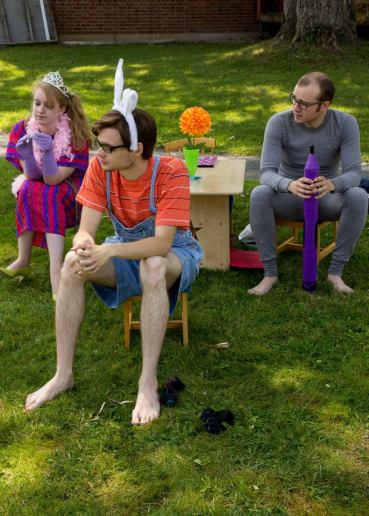 """Cora Jackson, Matthew Chiasson and Caleb Carpenter in """"The Local Chapter"""", 2014 Street Theatre by Sue Fisher (photo: Sue Fisher)"""